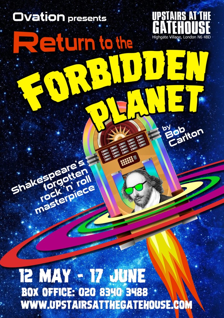 forbidden planet poster small